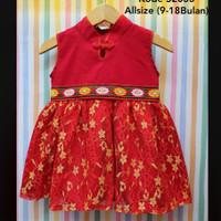 Lux Cheongsam / Cheongsam Bayi Perempuan / Baju Sincia Imlek Bayi