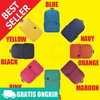 Tas Xiaomi Trendy Solid Color Lightweight Colorful Backpack Bag Water