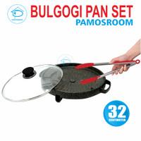 Pamosroom Bulgogi Pan 32cm Korean Bbq Grill Panggang + Penjepit 27cm