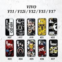 VIVO Y12 / Y15 / Y17 2019  Soft Hard Case MAN GLOSS Casing BAPE