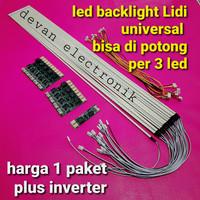 BACKLIGHT TV LED LIDI STRIP UNIVERSAL MULTI PLUS INVERTER LAMPU tv LED