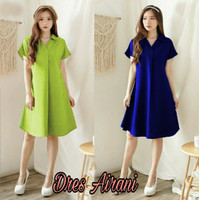 Baju Atasan dress wanita polos Fashion Style Terbaru Kekinian M FIT L