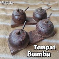 TEMPAT GARAM KAYU/TEMPAT BUMBU/MERICA/SAMBAL/WADAH GULA/SESEH