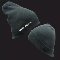 Kupluk Rajut Polos - Topi Kupluk Beanie Hat Tebal Dewasa Untuk Wanita