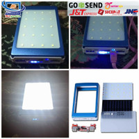 Modul PCB Power Bank Powerbank 5x18650+Tenaga Solar+ Lampu Senter LED