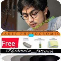 KACAMATA BULAT KOREA PRIA / WANITA   LENSA ANTIRADIASI PHOTOCROMIC UV - F+photocromic