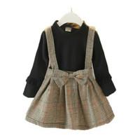 Baju lengan panjang anak perempuan . DRESS KOREA ANAK - LEAH BLACK