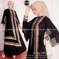 Dress Gamis Wanita Muslim Syari Terbaru 2021 Abaya TURKEY 1516 Premium