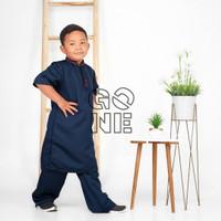 Koko Turki baju Koko anak laki-laki katun/Koko anak-WHITE, 1-2 YRS - Nevy, (1-2 tahun)