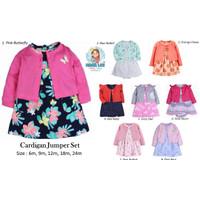 CARTER JUMPER DRESS CARDIGAN SET / CARTERS PAKAIAN BAYI / BABY DRESS