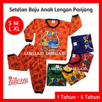 COD Setelan Baju Anak 6 Bulan - 5 Tahun Lengan Panjang Tayo Cars Angel