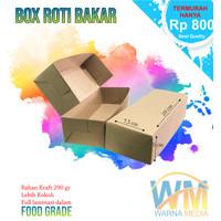DUS BOX ROTI BAKAR/KOTAK KUE UKURAN 20/DUS BOLU BROWNIES/PISANG NUGGET