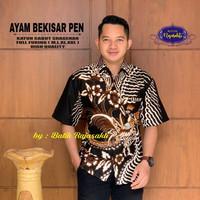 Kemeja Batik Lengan Pendek Terbaru Motif AYAM BEKISAR PEN - Bahan