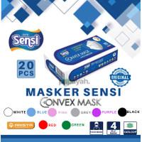 MASKER SENSI CONVEX MASK 4PLY EARLOOP ISI 20 PCS BUKAN DUCKBILL