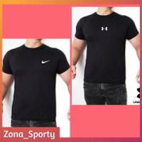 Baju Gym Hitam Pria Kaos Sport Fitness jogging
