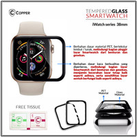 Tempered Glass 38mm Apple iWatch Full Glue (JAPAN QUALITY)