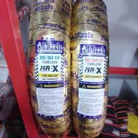 ban mizzle MR X ring 14 80/80 dan 90/80 set soft compound tubeless