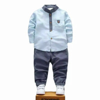 baju bayi Anak laki laki Kemko BerKualitas 1-5 tahun - Biru, 2(1-2thn)