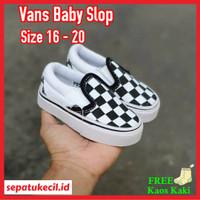 sepatu bayi vans slop baby slip on catur size 16 20