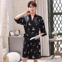 Kimono Pria Baju Tidur Kimono Renang Cowo Silk Satin Seserahan Nikah
