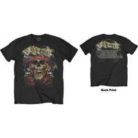 GUNS N ROSES Trashy Skull Back Print Kaos Band Hard Rock UK Official - S