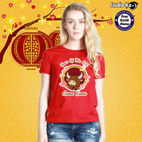 Baju Kaos Warna Dewasa Pria/Wanita/Unisex Design Imlek Umum