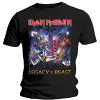 Kaos Baju Band Original IRON MAIDEN Legacy Of The Beast Rock Off Trade