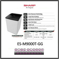 MESIN CUCI SHARP ES-M9000T GG TOP LOADING 1 TABUNG 9KG MEGA MOUTH