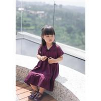 Veylkids Hejia Dress Cheongsam Anak Perempuan Bahan Tencel Purple
