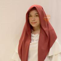 Hijab Laser Cut Voal Miracle Segiempat Umama Logo Rajut - Mix - Maroon