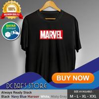 Baju Kaos Tshirt Superhero Super Hero Dewasa Premium Logo Marvel Comic - Putih, M
