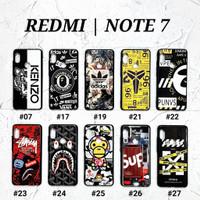XIAOMI REDMI NOTE 7  Soft Hard Case MAN GLOSS Casing BAPE Supreme