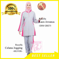 Setelan Baju Training OlahRaga / ORI Rocella Jovanca senam muslimah - dim grey, XL