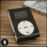 Pod MP3 Player TF Card dengan Klip & LCD - Black