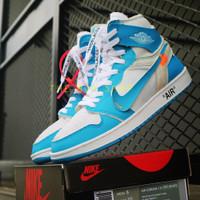 Sepatu Sneakers Hype Nike Air Jordan 1 x off white premium