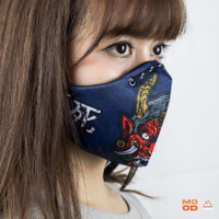 MOOD MASKER KAIN MOTIF FULL PRINT - JAPANESE DEMON by MOOD ADVENTURE - M