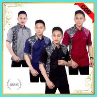 Baju Batik Pria Kemeja Lengan Pendek Original