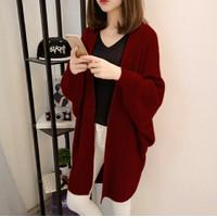 Cardigan Wanita Casual Outer Long Cardi Rajut Korea Kardigan Polos XL