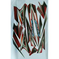 READY stiker striping scorpio z 2008 silver merah