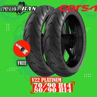 Paket Ban Motor Matic CORSA V22 PLATINUM 70/90 - 80/90 Ring 14 Tubeles