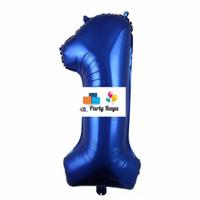 Balon Jumbo Biru / Balon foil angka 80cm / Balon angka jumbo