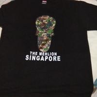 T shirt The Merlion Singapore hitam size L