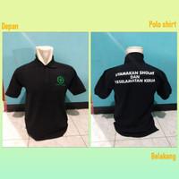 Kaos Polo Baju Kerah Distro SAFETY FiRST SHOLAT KERJA polos custom