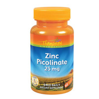 Zinc Picolinate 25 mg, 60 Tablets, Thompson *Made in USA*