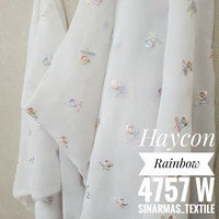 Kain Hycon atau Chiffon Gold & Rainbow Premium 0,5yard PREMIUM - W Rainbow
