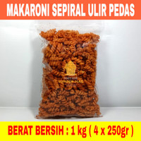 MAKARONI SPIRAL RASA PEDES Berat bersih 1 KG - Pedas, 1 kg