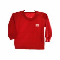 Baju Oblong Bayi Lengan Panjang/Atasan Baju Bayi Polos Unisex (3pcs)
