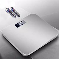 Timbangan Badan Digital USB Kaca 180 KG TImbangan Terbaik Terbagus - Batterai Silver