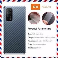 Xiaomi Mi1 0T / Mi10T Pro Skin Carbon Back Garskin Anti Gores Belakang