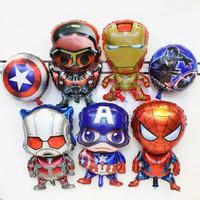 Balon foil jumbo spiderman / balon captain america super hero avenger